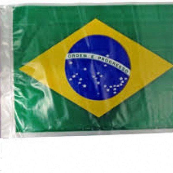 Bandeira do Brasil - Plástico com Haste - Unidade