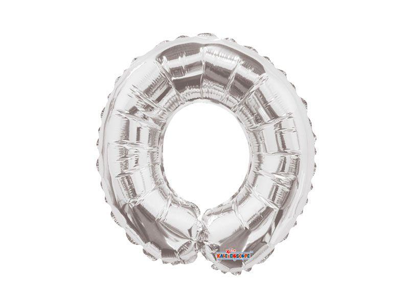 Balão Metalizado 83 cm - Prateado-  Letra O