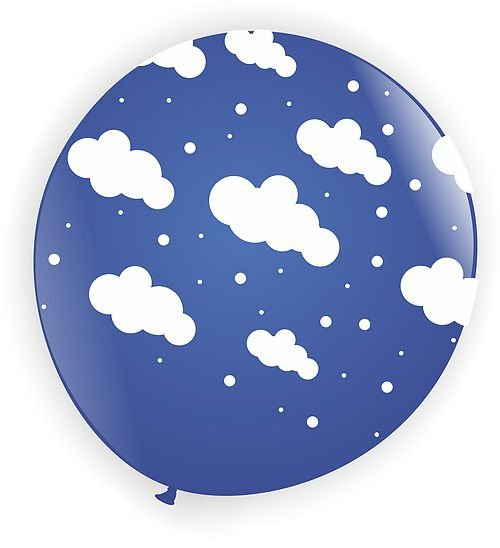 Balão Nuvem - Azul Escuro - Art Latex - 25 unidades