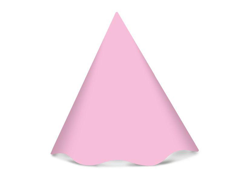 Chapéu de aniversário - Rosa Bebê - 08 unidades