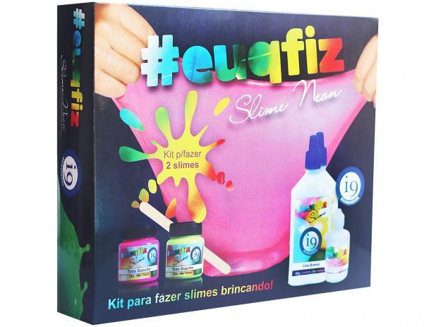 Kit  para fazer 2 Slime Neon