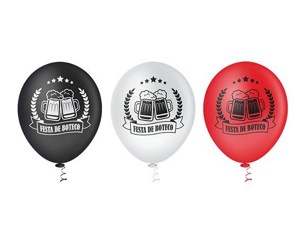 Balões Estampados N 10 - Boteco - 25 und- Pic Pic