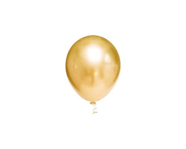 Balões Cromado Latex N 10 -Dourado - 25 und- Pic Pic