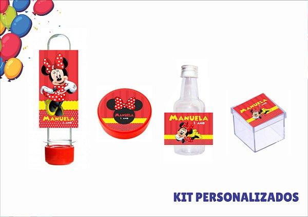 kit personalizado - minnie - 40 itens
