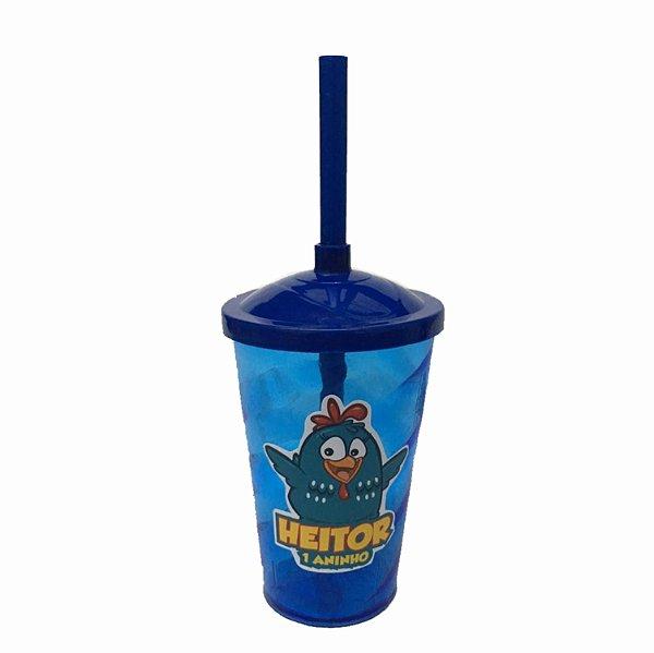 Copo Twister personalizado - 400 ml - Personalizado Galinha Pintadinha - 10 und