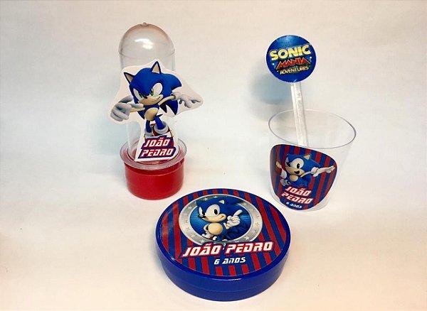 Kit Bolinho em casa -  Sonic - 30 itens