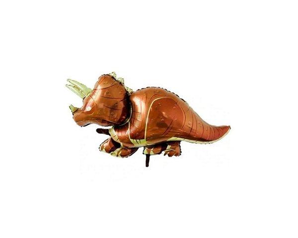 Balão Metalizado Dinossauro - Triceratops  - 95cm