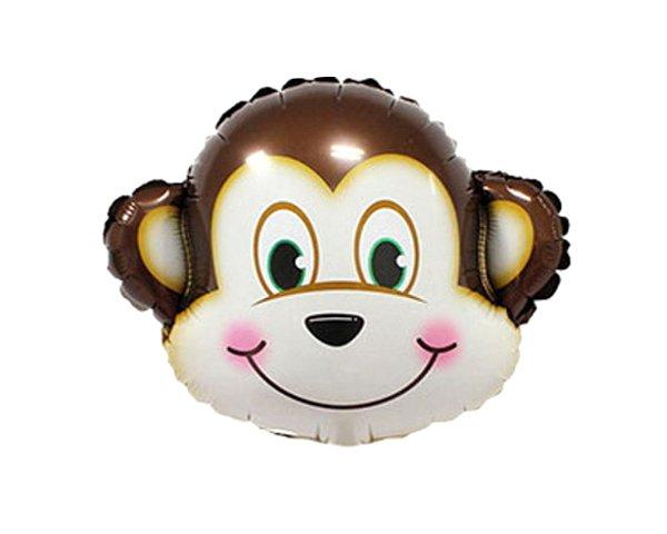 Balão Metalizado -  Macaco Safari -  45cm