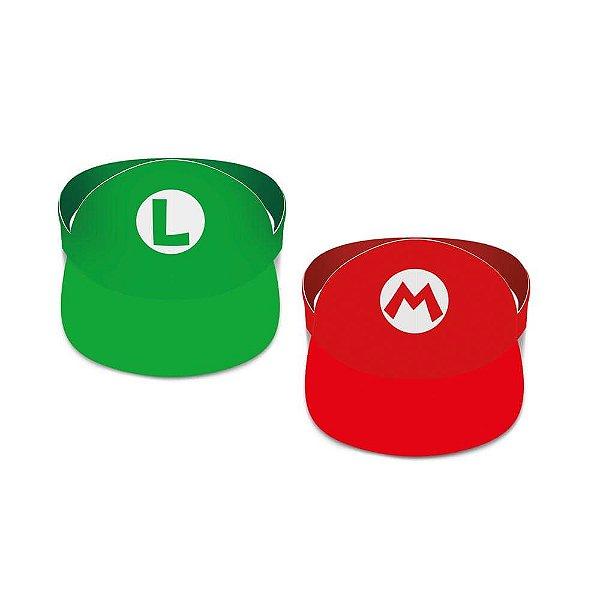 Viseira de Papel - Mario Bros - 2 unidades