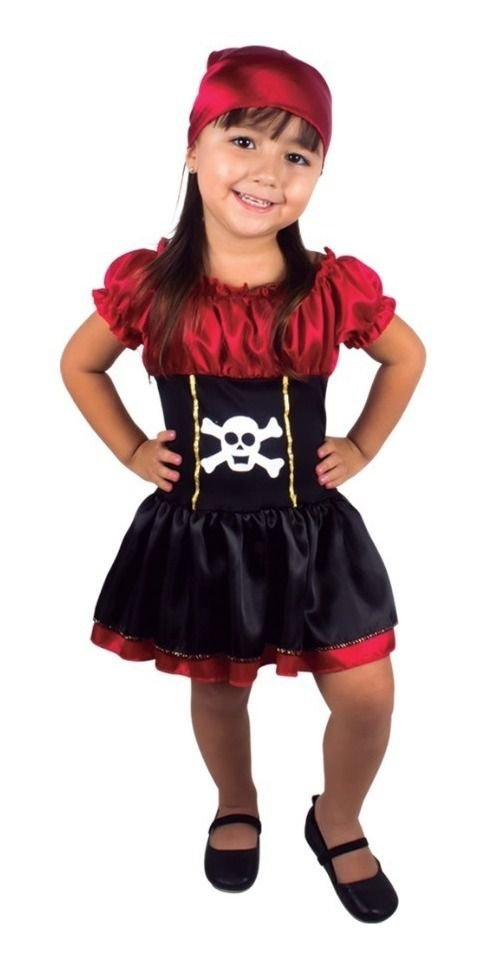 Fantasia Infantil - Vestido Pirata - Tamanho P