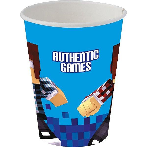 Copo de Papel 200ml - Authentic Games - 08 unidades