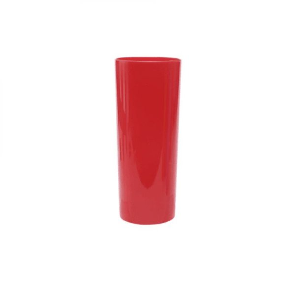 Copo Acrílico Long Drink - 320ml -  Vermelho