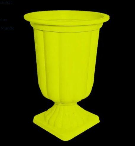 Vaso Plástico Grego - Amarelo Neon