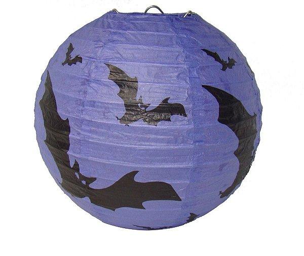 Lanterna de Papel Halloween - Morcego