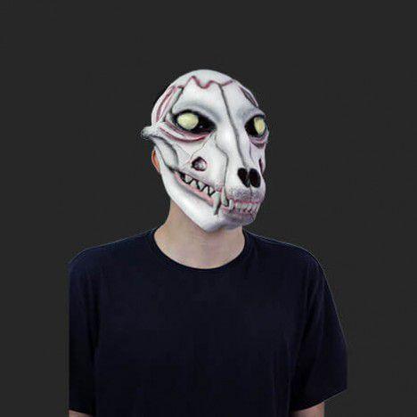 Máscara Latex Halloween - Cachorro Caveira