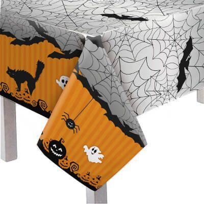 Toalha de Mesa Principal Plástica - Halloween - 1,18 x 1,80