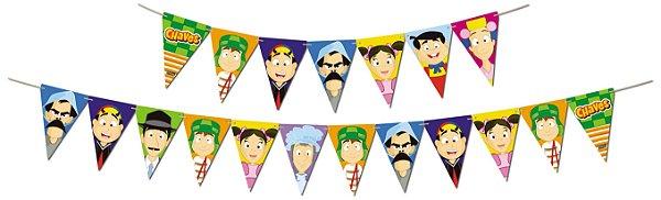 Faixa Feliz Aniversário - Festa  Turma do Chaves