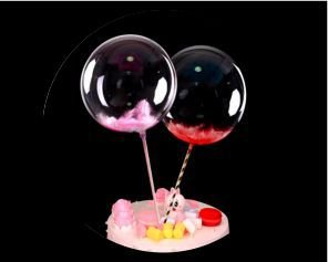 Mini Bubble - Topo de Bolo - Amarelo - 1 Unidade