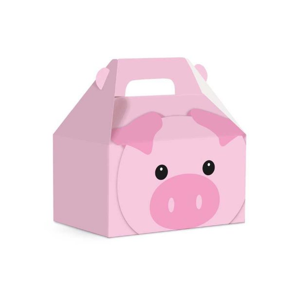 Caixa Maleta Kids  Fazendinha - Porquinho - 10 unidades