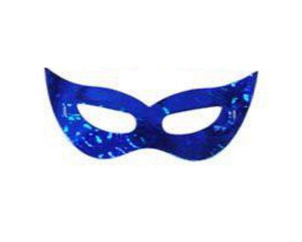Máscara de Carnaval - Papel - Azul - 10 Unidades