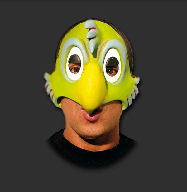 Máscara Látex Carnaval - papagaio Metade