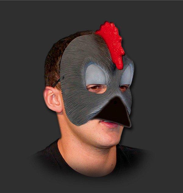 Máscara Látex Carnaval - Urubu Metade