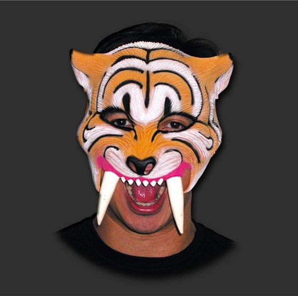 Máscara Látex Carnaval - Dente de Sabre - Metade