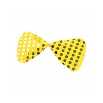 Gravata Borboleta Paetê - Amarelo