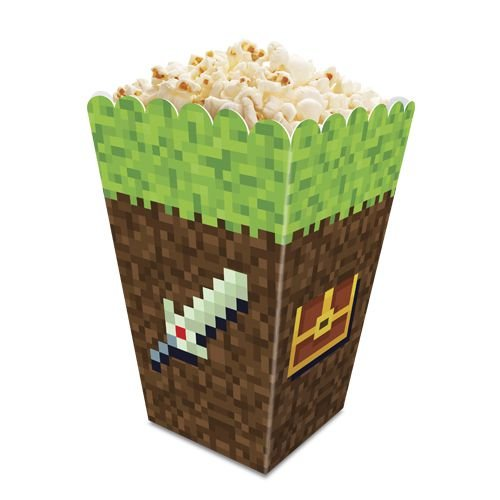 Caixa Pipoca Festa Minecraft - 8 unidades