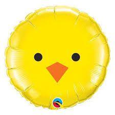 Balão Metalizado Pintinho - 46 cm