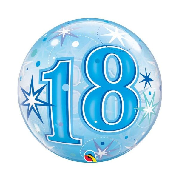 Balão Bubble - 18 Azul - 22 polegadas