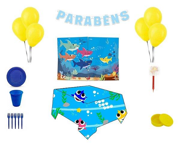 Kit Decoração de Festa Especial - Baby Shark