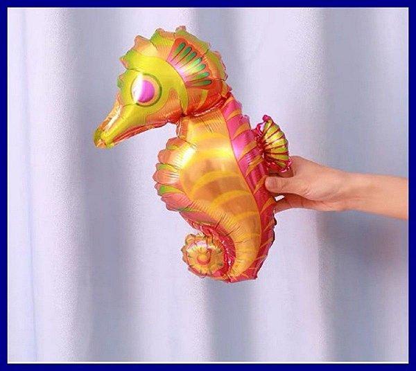 Balão Metalizado Cavalo Marinho - 35 cm