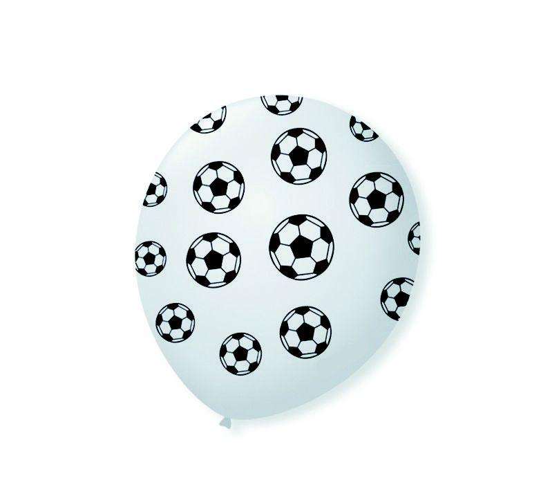 Balão látex 9 Polegadas -Futebol- 25 unidades
