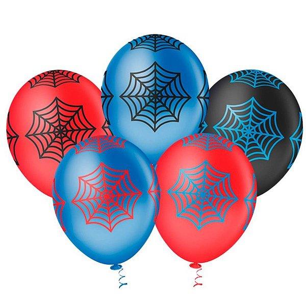 Balão N° 10- Teia Homem Aranha - 25 unidades