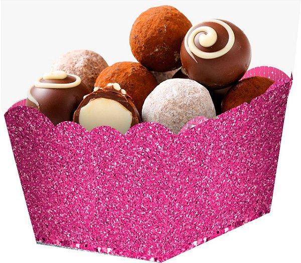 Cachepot  Papel Glitter Rosa Pink- 10 und