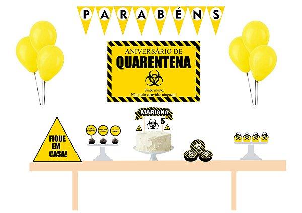Kit Festa Espetacular Personalizado - Quarentena