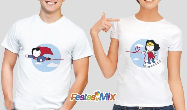 Kit Camisa Dia dos Namorados - Heróis