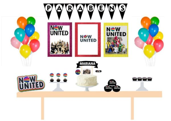 Kit Festa Personalizada Now United Color
