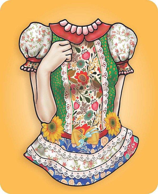 Painel para Fotos Junina - Vestido