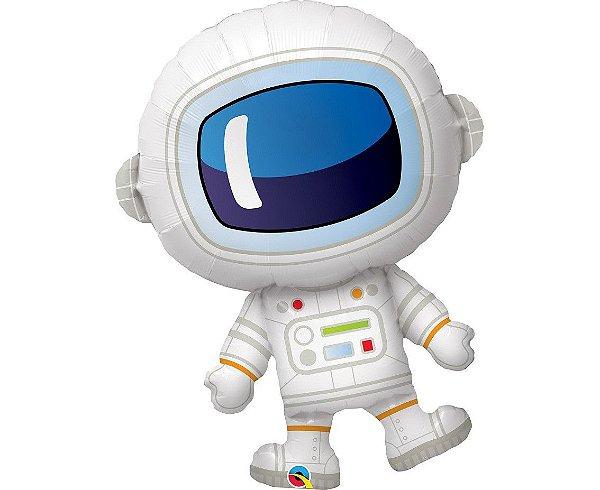 Balão Metalizado Astronauta  85 cm x 65 cm