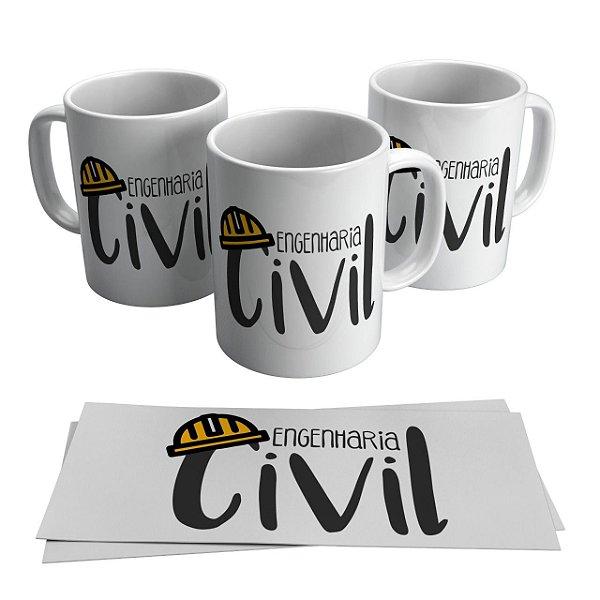 Caneca Cerâmica Profissão - Engenharia Civil