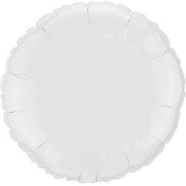 Balão Metalizado Redondo Branco Cromo 45 cm