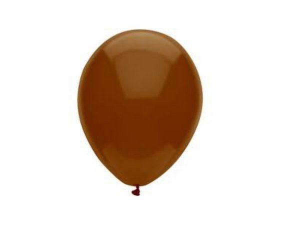 Balão Látex n° 8 - Marrom - 50 Unidades