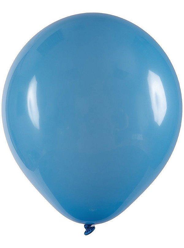 Balão Látex n° 8 - Azul Celeste - 50 Unidades
