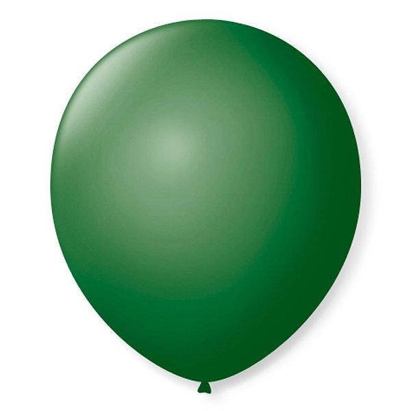 Balão Látex n° 8 - Verde Folha - 50 Unidades