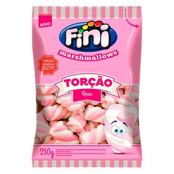 Marshmallows Torção Rosa- 250 g