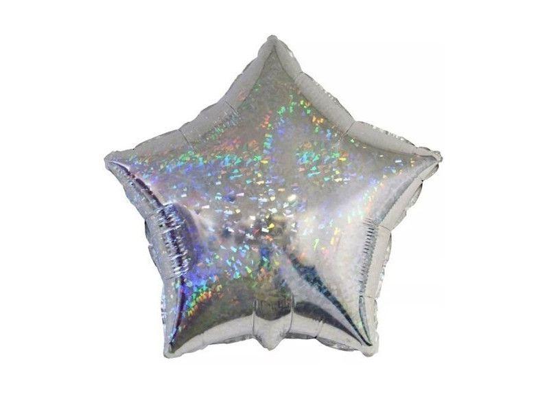 Balão Metalizado Estrela - Nacarado 25 cm
