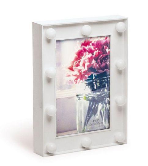 Porta Retrato Branco de LED