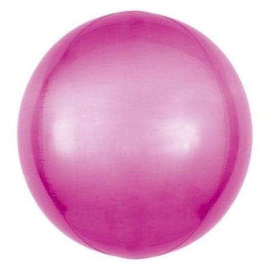 Balão Metalizado Bolha Rosa - 45cm